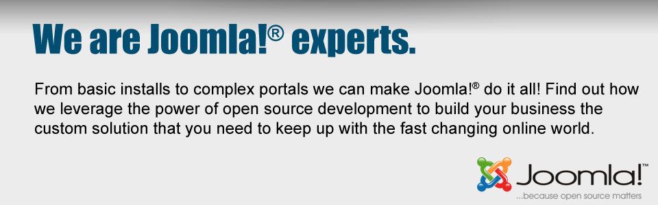 We are Joomla experts