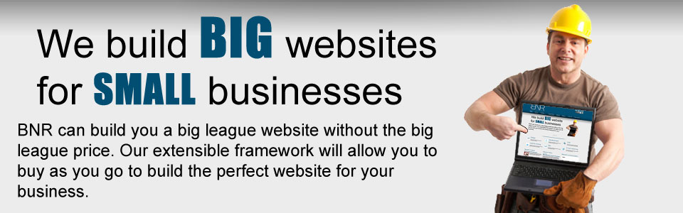 We build big websites for small businesses